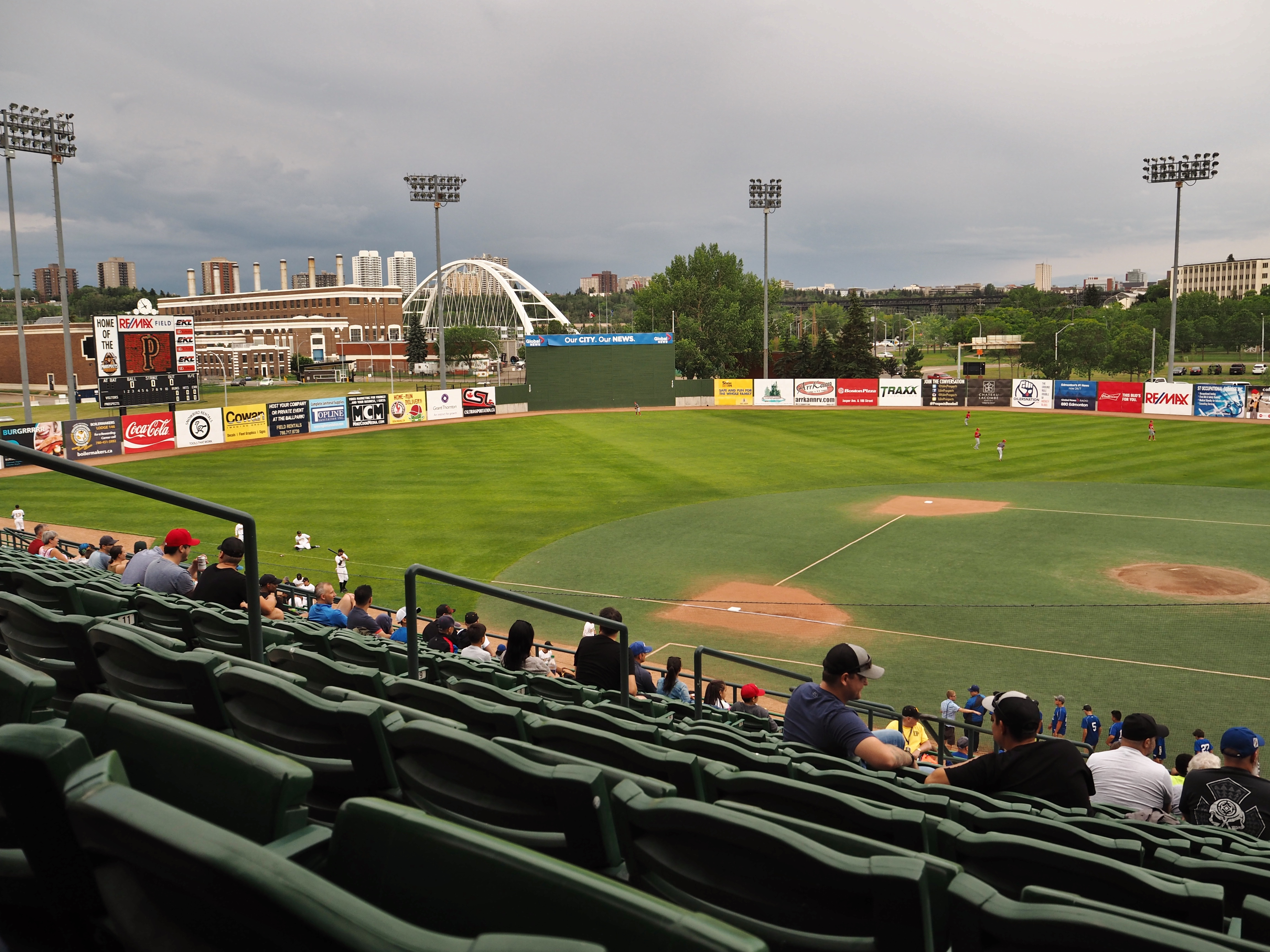 A Night of Edmonton Baseball Action