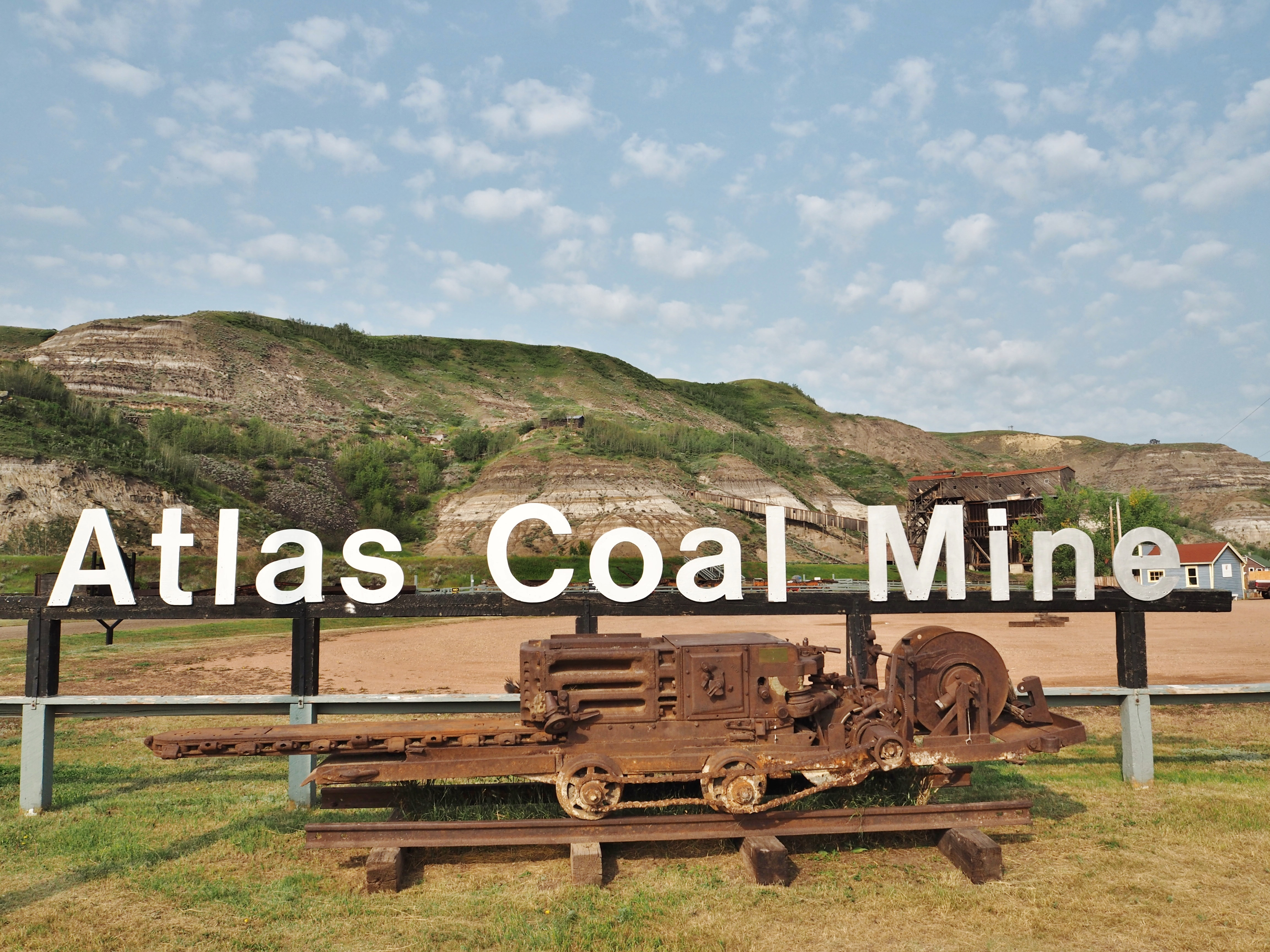 Touring around the Atlas Coal Mine